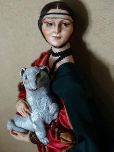 Дама с горностаем / Изготовление авторских кукол своими руками, ООАК / Бэйбики. Куклы фото. Одежда для кукол
