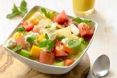 Good Food, Yummy Food, Gazpacho, Bbq, Fruit Salad, Cantaloupe, Potato Salad, Tapas, Side Dishes
