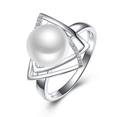 Sinya 925 sterling silver pearl Ring with 9-10mm natrual freshwater pearl Fine Jewelry wedding ring for women 2017 Hot sale