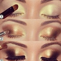 Love this smoky eye look.