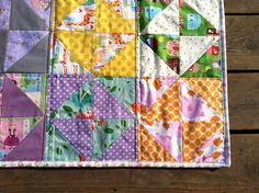 Very cute and simple pattern.  Use this for the folded four patch summer quilt pattern