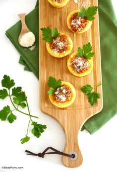 Polenta Cups Appetizer Recipe - perfect for the party season or to serve as starter!