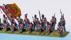 44th Foot Line right flank painted from Tobias Kirchner (Perry Miniatures)