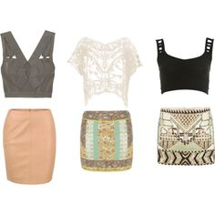crop tops and high waisted skirts...yes please.