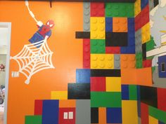 10 Lego Room And Mural Designed By Kid Murals By Dana Railey Ideas Lego Room Mural Design Lego Lovers