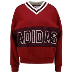 adidas Originals ADIBREAK SWEAT Sweatshirt ❤ liked on Polyvore featuring tops, hoodies, sweatshirts, red top, adidas originals top, adidas originals, red sweatshirt and adidas originals sweatshirt