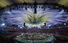 Brilliant fireworks at the Olympics Opening Ceremony