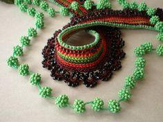 Ivy ... Freeform Crochet Necklace | irregular expressions | Flickr