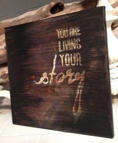 Your Story 12x12 Acrylic $105  http://cargocollective.com/artbyleighbird