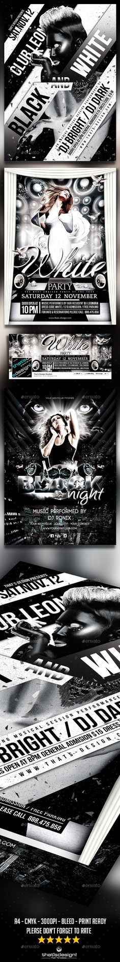 artistic hip-hop dj or band singer music flyer template concert - black and white flyer template