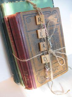 Vintage Scrabble Tile READ Purse Charm, Library Decor, Photo Prop, Key ...