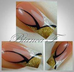 Nail Design von Naildesign by Bianca Beautiful Nail Designs, Beautiful Nail Art, Cool Nail Designs, Fabulous Nails, Gorgeous Nails, Pretty Nails, Ongles Bling Bling, Orchid Nails, Nagellack Design