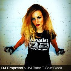 Junglist Movement Babe T-Shirt (Black)