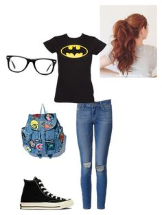 """""""Nerdy"""" by shellyshway ❤ liked on Polyvore featuring moda, Paige Denim, Converse y Muse"""