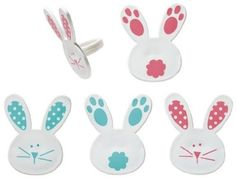 Easter Bunny and Tails Cupcake Rings - 24 pcs ** Remarkable product available  : baking decorations