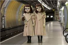These two have been wondering around London to mark the launch of the world's first psychological theme park ride created by Derren Brown.