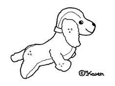 Karen`s Paper Dolls: Dogs Cut-outs to Print and Colour. Hunde klippeark til at printe og farvelægge.