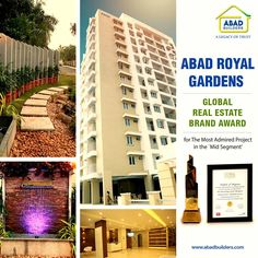 Flats in Kottayam, Premium Apartments in Kottayam Abad Royal Gardens has won the Global Real Estate Brand Award for Most Admired Project in the Mid Segment. Read more here: http://bit.ly/2uq6Qmf