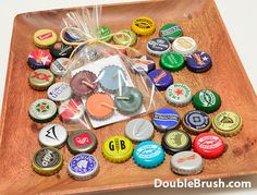 Let's get this beer party started with our handmade upcycled beer bottle cap candles. Use some for beer party decor, and give away some for party favors. BEER, the king of ancient beverages, deserves