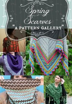 Pattern Gallery - Spring Scarves. 5 crochet and 2 knit patterns to wrap you up this spring. From Morale Fiber Blog