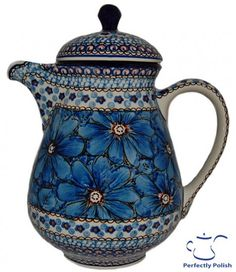 Polish Pottery Signature 4 Series Coffee Pot / LOVE THIS!!!