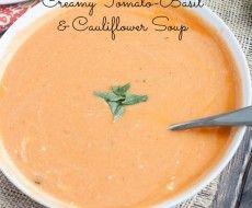 Sopa Tomate- Albahaca Y Coliflor