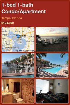 1-bed 1-bath Condo/Apartment in Tampa, Florida ►$104,500 #PropertyForSale #RealEstate #Florida http://florida-magic.com/properties/5037-condo-apartment-for-sale-in-tampa-florida-with-1-bedroom-1-bathroom