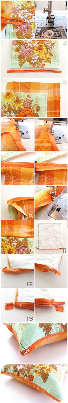 How To: Zippered Pillow Cover