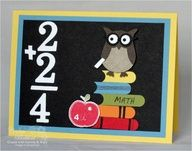 Stampin Up= cute back to school card  or 4 year old birthday