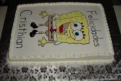 pastel con dibujo Bob Esponja