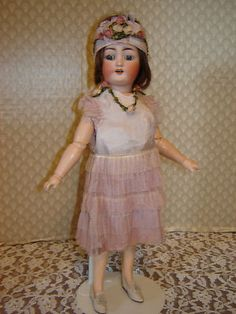 Antique Beautiful  Simon & Halbig Flapper Lady Doll