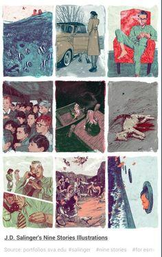 Nine Stories by J. D. Salinger - Illustrations