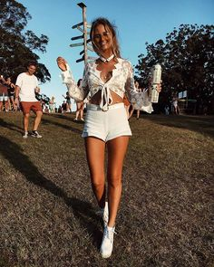 Who's heading to Splendour in the Grass this year?! Reliving Festival Vibes with @torilevett in the Maple Lace Crop & white Symi Shorts We can't wait to share our new festival range with you soon!