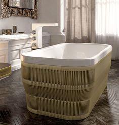 Freestanding Acrylic Bathtub by Glass Idromassagio