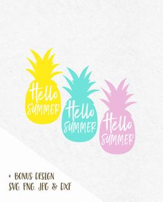 Hello Summer Pineapple Svg Beach Svg Svg Saying Summer Svg Summer Quotes Summer Beach svg Svg Summer Silhouette Cricut…