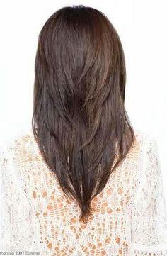 awesome V shaped layered haircut                                                                                                                                                     More