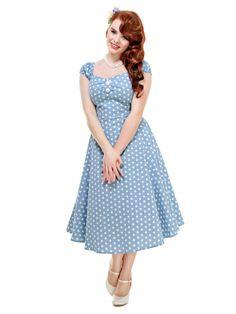 Dolores Vintage Polka Dot Doll Dress 0