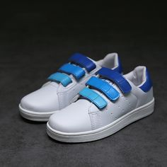 b14d9e77e Moda 3 Colores A Rayas Niño Gancho antideslizante Plato Blanco Zapatos de  Los Niños Del Otoño
