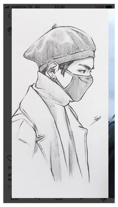 #bts #drawings #btsdrawings Taehyung Fanart, Kpop Drawings, Art Drawings Sketches Simple, Realistic Drawings, Anime Sketch, Character Drawing, Art Sketchbook, Painting & Drawing, Minimalist Art