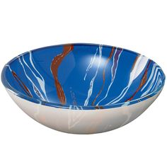 Translucence™ Swirl Tempered Glass Vessel Bathroom Sink