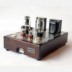 Hi-Fi Tube Amplifier Dark Walnut now featured on Fab. - wille wood work