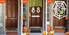 Easy #Halloween Craft - Creepy Doors by Amy at LivingLocurto.com