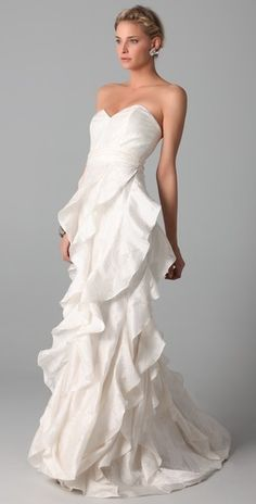Badgley Mischka ♥♥♥♥ Collection Strapless Gown with Ruffle.