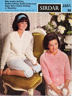 vintage ladies bed jacket bed sweater knitting pattern pdf DK womens lacy bedjacket 34-38 inch DK light worsted 8ply Instant download by coutureknitcrochet on Etsy