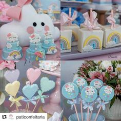Baby Shower Cakes, Baby Shower Parties, Baby Shower Themes, Baby Birthday, 1st Birthday Parties, Raindrop Baby Shower, Cloud Party, Princess Cupcake Toppers, Kids Party Decorations