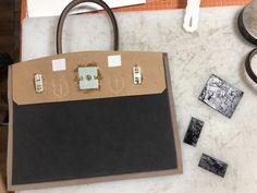 에르메스 버킨백st 가죽가방만들기 5주차 수업 : 네이버 블로그 Leather Bag Pattern, Hermes Birkin, Diy Crafts, Detail, Handmade, Totes, Bags, Hand Made, Make Your Own