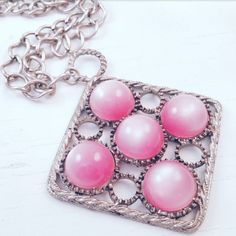 Check out this item in my Etsy shop https://www.etsy.com/listing/474199999/pink-moonglow-pendant-necklace-circles