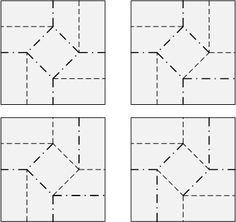 different ways to fold square twist