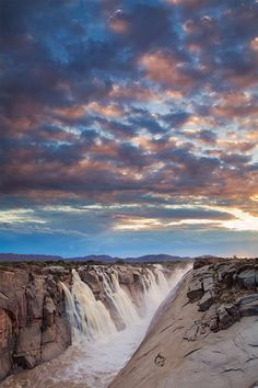A New Day - Augrabies Waterfall, Northern Cape, South Africa - All images©Hougaard Malan Silvester Trip, Augrabies Falls, Places To Travel, Places To See, Visit South Africa, Out Of Africa, Beautiful Waterfalls, Africa Travel, Nature Photos