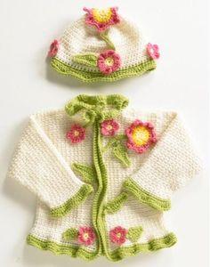 Flower Sweater and Hat Crochet Pattern - Maggie's Crochet